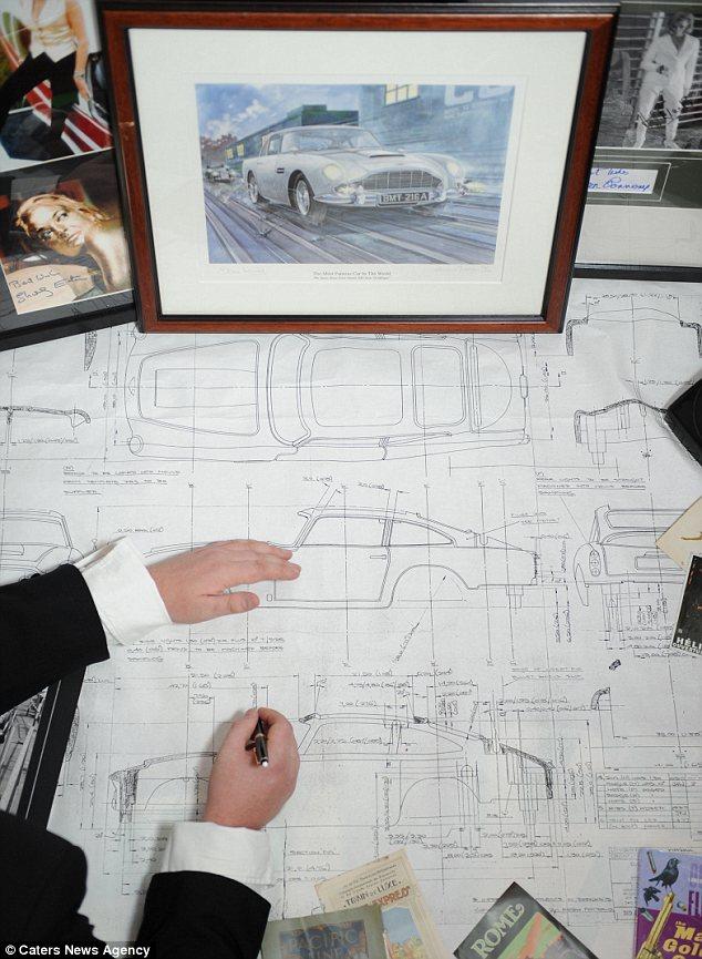 Blueprint Aston Martin DB5