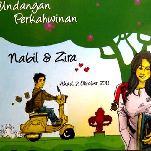 Kad Kahwin Nabil dan Nazirah