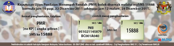 Semakan Result PMR 2011
