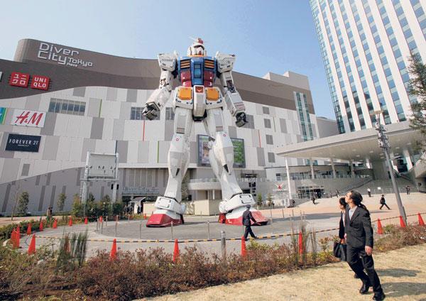 Robot Gundam Saiz Sebenar Setinggi 18 Meter Dipamerkan