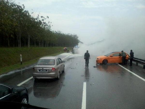 Kereta Proton Satria Neo WWW1 Terlibat Dalam Kemalangan?