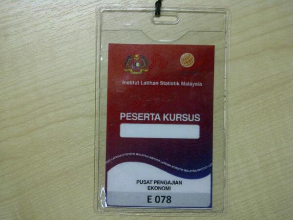 Berkursus Di Institut Latihan Statistik Malaysia, Sungkai, Perak