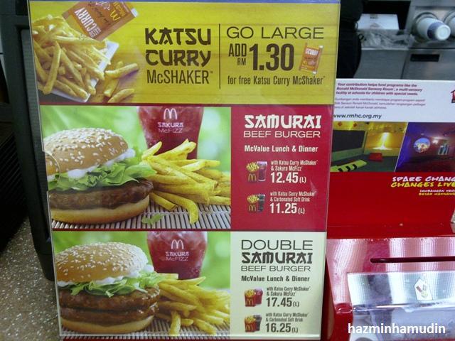 Samurai Burger McDonalds 2