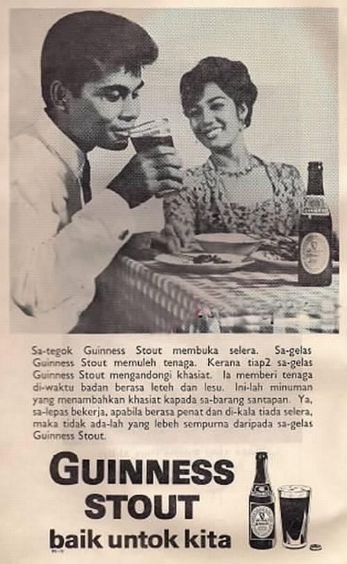 Iklan Guinness Stout 1968