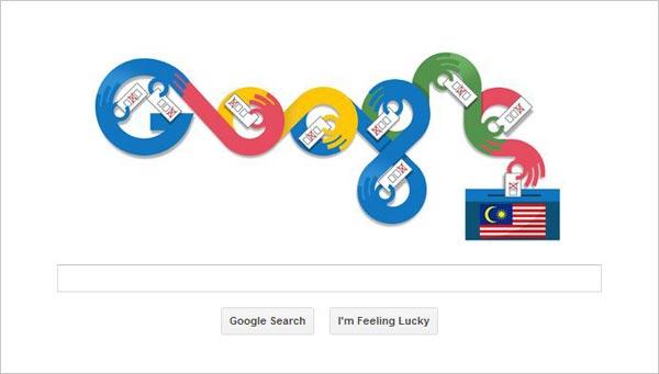 Google Doodle | Pilihan Raya Umum Ke 13
