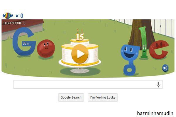 Google Doodle | Google Menyambut Ulang Tahun Ke-15
