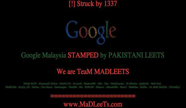 Google Malaysia Kena Hacked