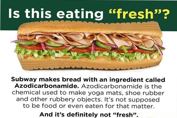 Bahan Kimia Dalam Roti Subway