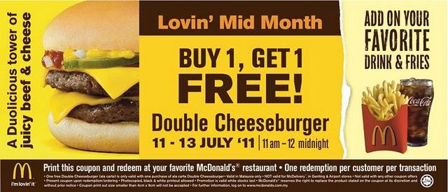 Kupon Double Cheeseburger McDonald's