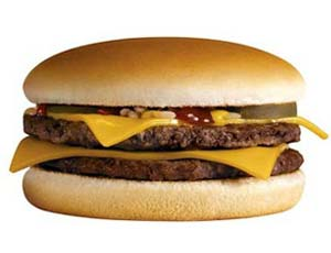 Double Cheese Burger McDonald's