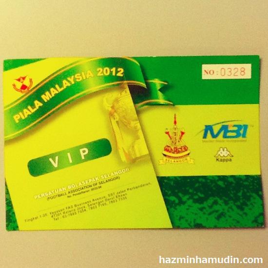 Tiket VIP Piala Malaysia 2012 1