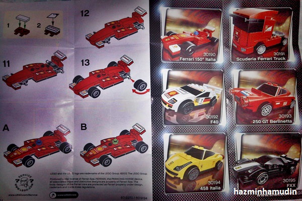 Kereta Mini Ferrari LEGO 4