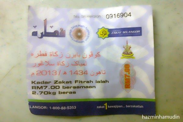 Zakat Fitrah Selangor 2013