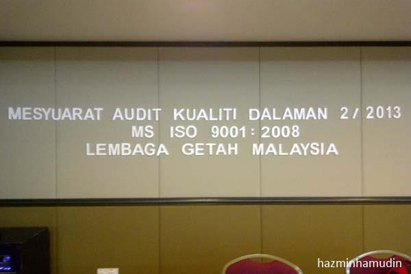 Mesyuarat Audit Kualiti Dalaman LGM 2013