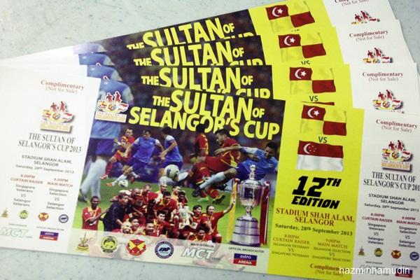 Tiket Piala Sultan Selangor Edisi Ke-12