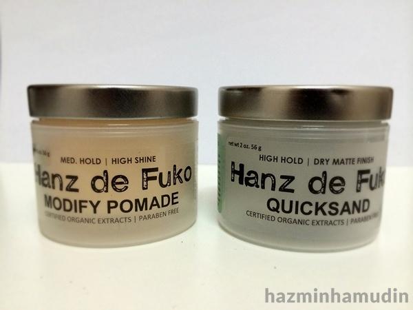 Hanz de Fuko Modify Pomade & Quicksand