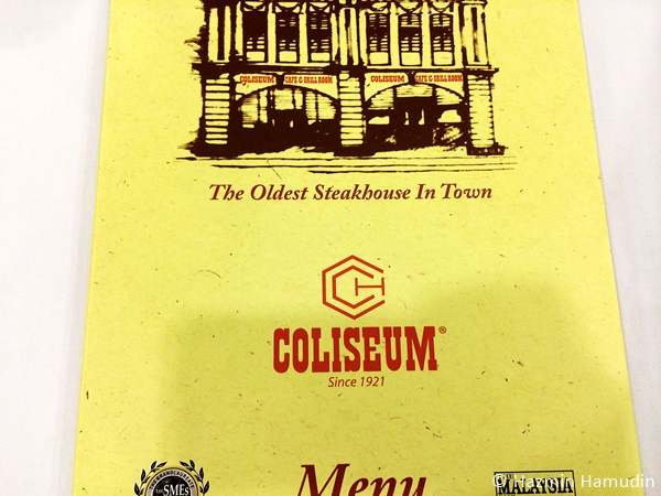 Coliseum Cafe & Grill Room Menu